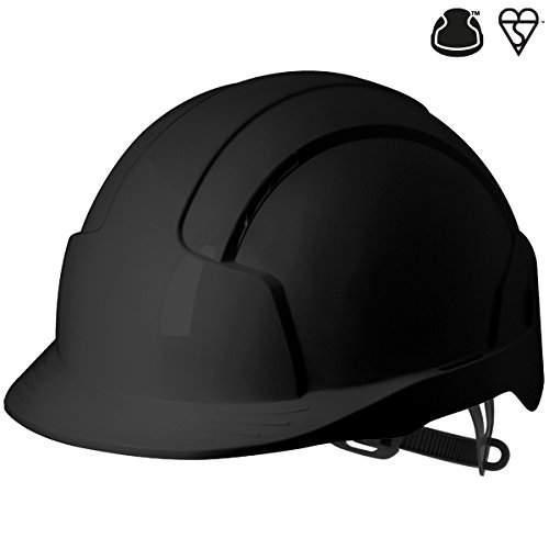 JSP Ajb160-001-100Evolite casque de Slip à cliquet, ventilé, Noir