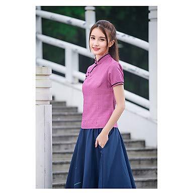 HAOBAO unterzeichnen 2017 Sommer Neue Miss Tang Zhuang Republik literarisch Wind Retro Cheongsam Platte knöpft schmalen Ober, XL