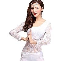 YiJee Mujer Belly Dance Disfraz Tops Danza del Vientre Encaje Blusa Costume