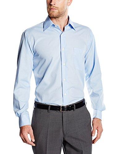 BlueBlack Herren Regular Fit Business Hemd Valerio, langarm, bügelfrei, Gr. Kragenweite: 43, Blau (hellblau 14)
