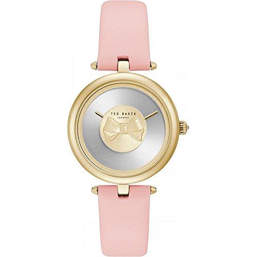 Ted Baker Womens andrea or bow cadran bracelet en cuir rose TE15199001