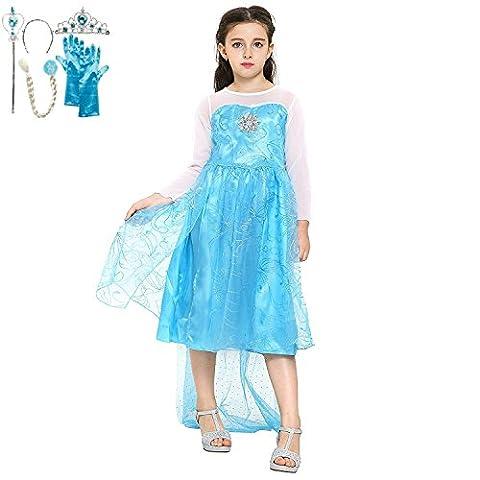 Costume La Reine Des Neiges - Katara - Frozen Robe bleue étincelante d'Elsa