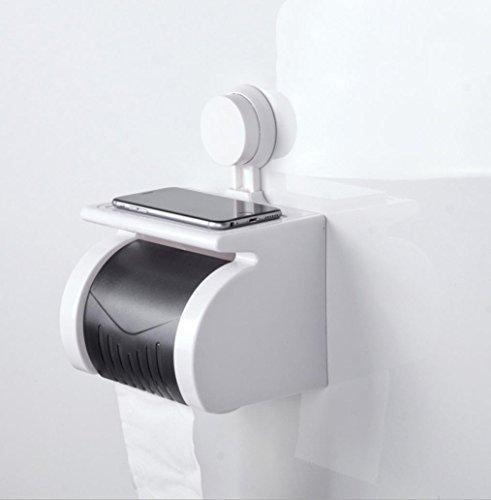 Toilettenpapierhalter Wasserdichter Rollenhalter Funktionelles und praktisches schönes Aussehen Humanized Entwurf, 172 * 131 * 135mm Plastiksauger