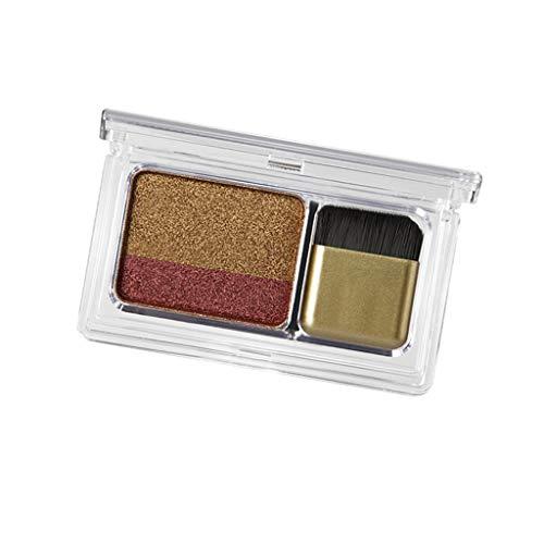 D DOLITY Bicolore Mat Smoky Imperméable à l'Eau Palette Cosmétiques Maquillage Yeux avec Pinceau - C