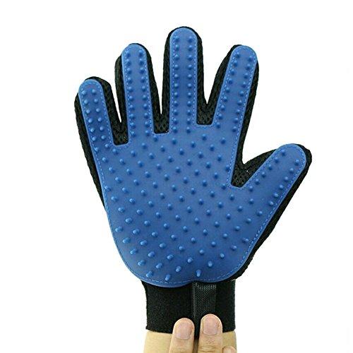Haodasi Blue Right Hand del animali pulizia massaggio guanto spazzola per pettine