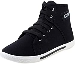 Scantia Black Color Casual/Fashionable Shoes For Men/Boys_ (Aluminium Foil with 25 piece of food pouch for Dugra Puja and Diwali Special Gift on every Purchase)