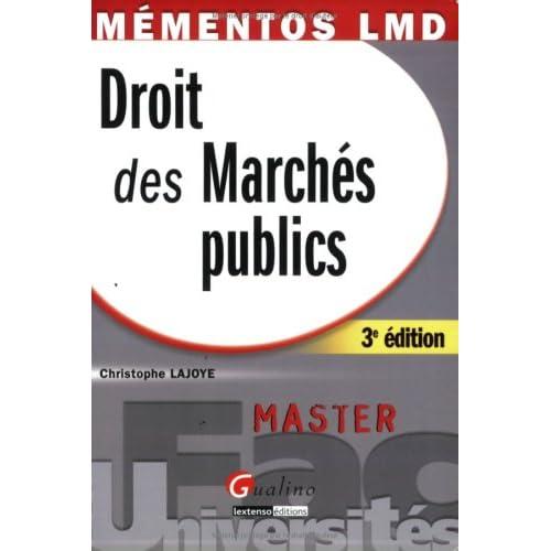 Droit des Marchés publics