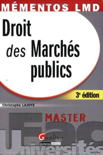 Droit des Marchés publics par Christophe Lajoye