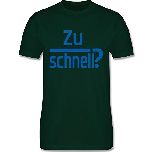 Laufsport - Zu schnell - Herren Premium T-Shirt Dunkelgrün