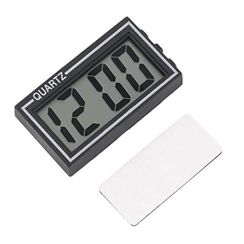 Plástico Negro Tamaño pequeño Mesa LCD Digital Tablero de Instrumentos del Coche Escritorio Fecha...