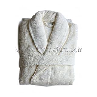 aquanatura–Organic Cotton Bathrobe, Color Natural, Size S