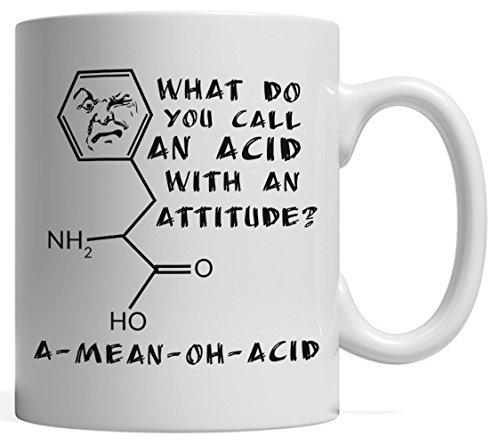 Una Taza de Ciencia Divertida de Romper con un Pan de ácido Medio - un Gran Regalo para tu Profesor de física, química o biología.