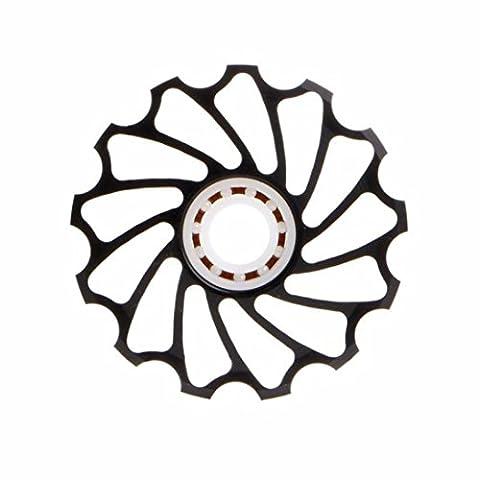 1 pièce 13T MTB Derailleurs Roulement en céramique Poulie de roue de jockey Vélo de route Derailleur arriere (Noir, 50mm)