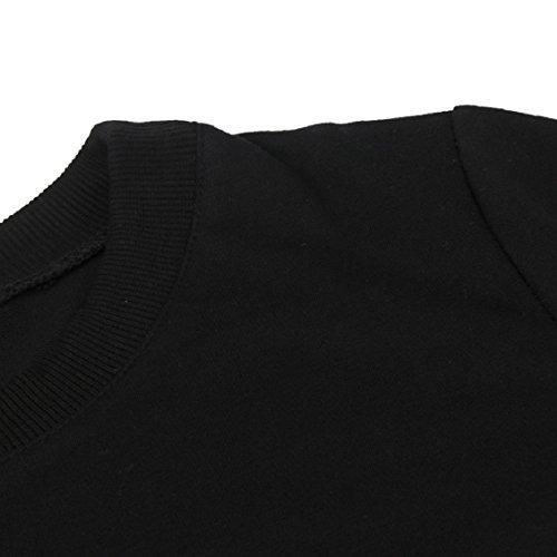 Transer ® Chemisier Couple, Mode SA Reine Lettre Imprimer Coton Sport Top Blouse Couple Pull à manches longues Noir(S-XL) Noir(Hommes)
