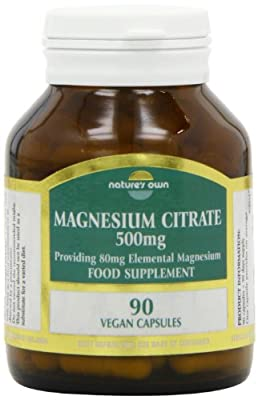 Natures Own 500mg Magnesium Citrate Capsules - Pack of 90 Capsules by Natures Own Limited