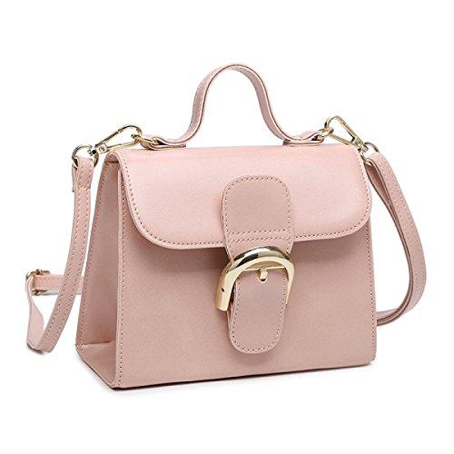 2017 Neue Öl Wachs Leder Lackleder Schulter Messenger Bag Kleine Quadratische Tasche,Brown Gray