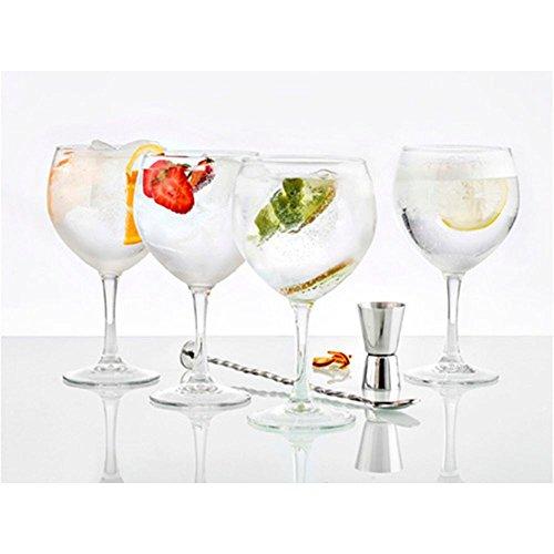 Vintia Gabanna - Set de 6 copas de gin tónico, 62 cl + 1 cuchara + 1 dosificador