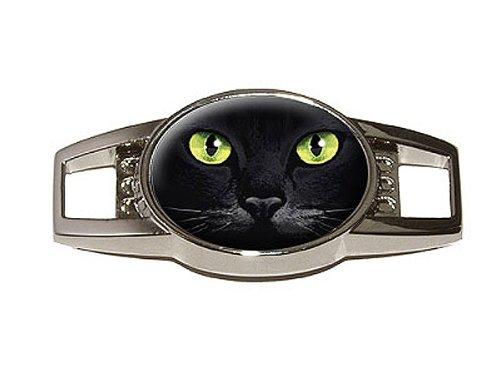 Preisvergleich Produktbild Cat Face–Nahaufnahme–Schuh Turnschuh Sneaker Trainer Schuhbändern Charm Dekoration