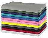 Sweet Needle -Lot de 12 - Serviettes de table surdimensionnées 100% coton, 50cm x 50cm - tissu lourd pour utilisation quotidienne, avec bords biseautés