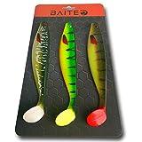3er Set Gummifische zum Angeln auf Zander und Hecht - Der perfekte Kunstköder für Raubfische