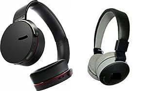 MIRZA EXtra Extra Bass XB450 Headphones & JBL881C Bluetooth Headphones for XOLO BLACK.(Extra Bass XB 450 Headphones,With MIC,Extra Bass,Headset,Sports Headset,Wired Headset & JBL881C Bluetooth Headphones)
