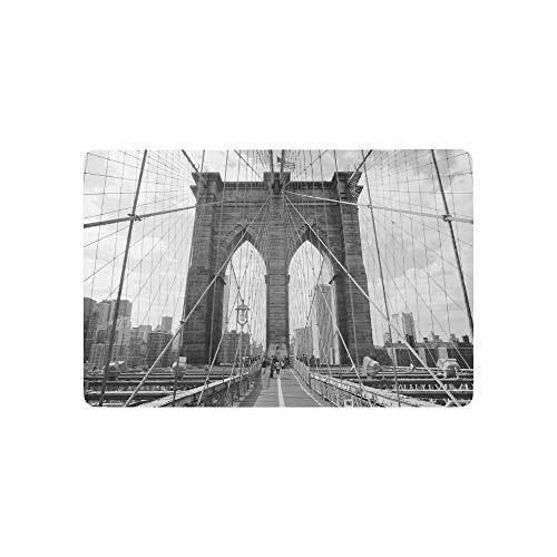 nti-Rutsch-Fußmatten-Wohnkultur, Eingangs-Fußmatten-Gummiunterlage für den Innenbereich in Brooklyn Bridge, New York City ()
