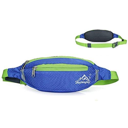 """Marsupio Running Cintura Corsa Risparmio di Spazio per Sport e Tempo Libero (compatibile con il telefono fino da 6.5 """") (Blu)"""