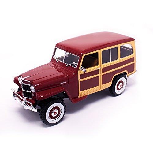 Lucky Die Cast, Willys Jeep-Station-Wagon, 1955, Modell-Fahrzeug, 1:18