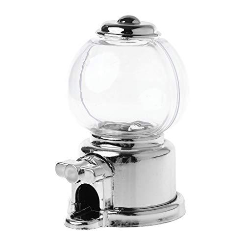 Hergon, pratico dispenser per caramelle, snack e monete, idea regalo per bambini 3.94inx4.72inx5.12in Silver