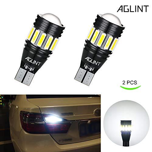 AGLINT Ampoule LED W16W T15 CANBUS Sans Erreur 7020 15SMD Chips Ampoules 912 921 T16 Pour Auto LED Sauvegarde Inversée Ampoule (Blanc Xenon 2 Pièces)
