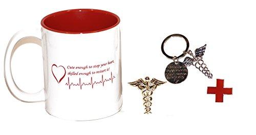 Niedliche genug Kaffeetasse für Medical Professional w/Passender Schlüssel Kette Geschenk Pack (Kaffee-geschenk-pack)