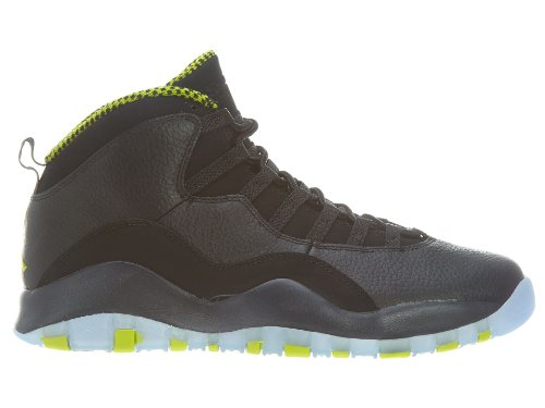 Nike Air Jordan Retro 10, Chaussures de Sport Homme, Noir, 44.5 EU black/vnm green-cl gry-anthrct