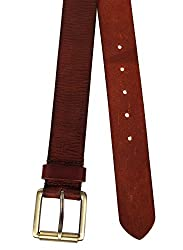 Aditi Wasan Genuine Leather Brown Mens Belt