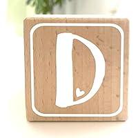 Holzwürfel mit Buchstabe D