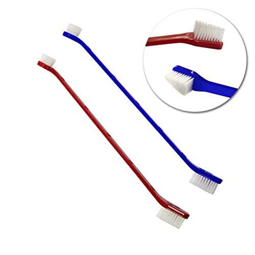 takestop® 3er Set Bürstengarnitur, doppelt, für Hunde und Haustiere Reinigung, Farbe zufällig