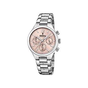 Festina 32002166 – Reloj analógico de cuarzo para mujer, acero inoxidable