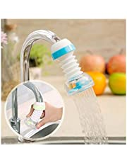 SHOPPOSTREET Anti-Splash Expandable Head Nozzle Bathroom Tap Adjustable Splash Sprinkler Head Sprinkler Water Saving Device Faucet Regulator (Multi Color)