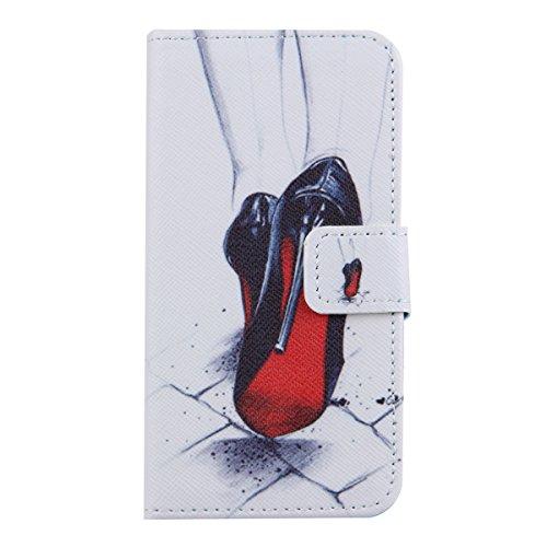 Custodia per iPhone 4S,TOCASO Flip Case PU Pelle [Wallet Book Design] Caso per iPhone 4 4S Portafoglio Cover Ultra Sottile Leather Protettivo Cases Covers Shell [Magnet Closure] ID Carta Slots Caso Gu high heel