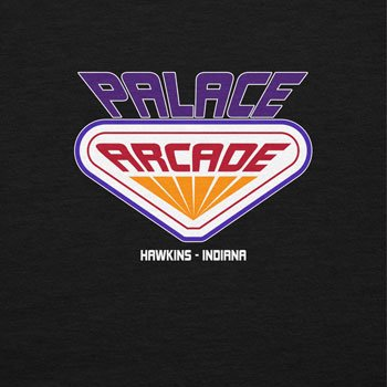 NERDO Hawkins Palace Arcade - Herren T-Shirt Schwarz