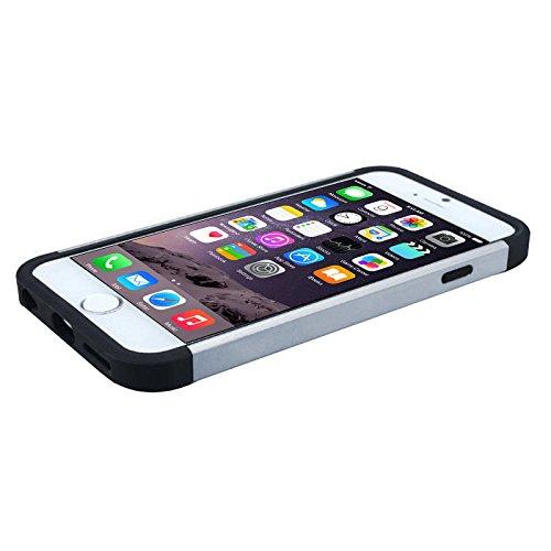 Apple iPhone 6 TPU Gel Case - Blau Apple iPhone 6 Tasche Flip Case Leder Cover Schutz Hülle Etui Schale - thinkmobile Multi-coloured