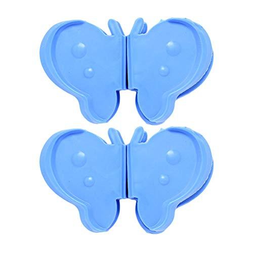 BESTONZON 1 Paar Butterfly-Silikon-Hot Pot-Halter Verbrühungshitzebeständigkeit für heiße Ofenplatten in der Küche (Dark Blue) -