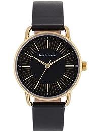 Reloj hombre JEAN Bellecour de cuarzo reloj negro 38 mm y pulsera Negro Piel jb1073