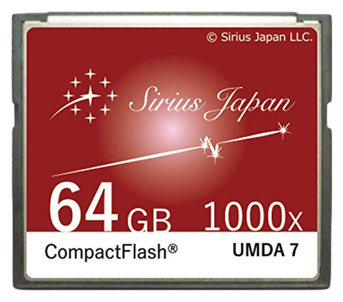Sirius CF Karte 64 GB 【Farbe:Cranberry】 wie Coole Cafe Farbvariation (über 80 Modelle) Compact Flash Card 1000X ESC10-64 Gcb Cranberry Flash