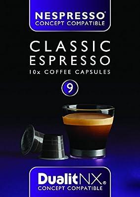 6 x Dualit NX Classic Espresso Nespresso Compatible Dark Coffee Pod Capsules x 10 (60 Total)