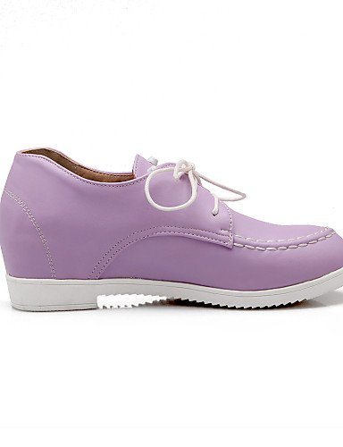 ZQ Scarpe Donna - Stringate - Ufficio e lavoro / Formale - Punta arrotondata - Zeppa - Finta pelle - Nero / Rosa / Viola / Bianco , purple-us10.5 / eu42 / uk8.5 / cn43 , purple-us10.5 / eu42 / uk8.5 / pink-us6 / eu36 / uk4 / cn36