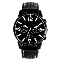Osfanersty Quartz Casual Cool Big Dial Silicone Strap Sports Style Men Watch Accurate for Adults
