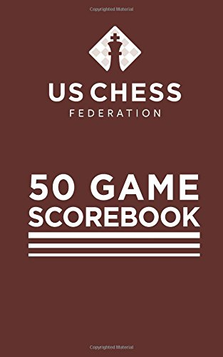 US Chess Federation - 50 Game Chess Scorebook - Soft Cover - Red