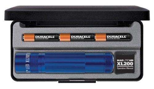 Mag-Lite LED Taschenlampe XL200, 172 Lumen, blau, 12 cm mit 5 Modi und Endkappenschalter, XL200-S3117