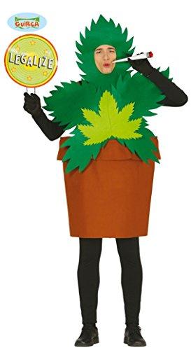 Marihuana Pflanze in Topf als Kostüm für Erwachsene, (Kostüme Marihuana)