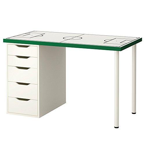 Limmaland Möbelaufkleber Fußballfeld weiß - passend für IKEA LINNMON/Alex Kinder-Schreibtisch - Möbel Nicht inklusive